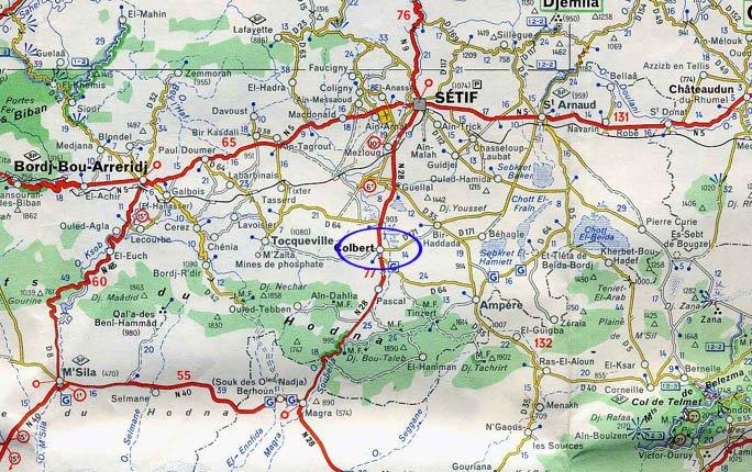 Carte de Géographie de Colbert