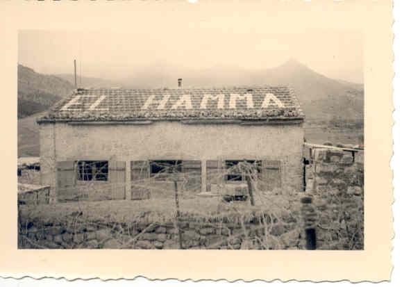 Poste avancé dans la région d'El-Hamma,1957