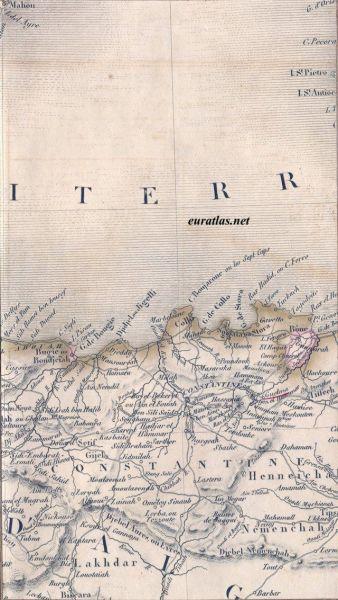 Carte d'Algérie,1837
