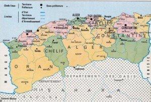 Carte des départements avant 1962