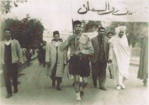 Cheikh El Hadi LAIDOUDI en premier plan à droite,1965