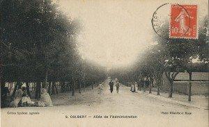Route de l'administration,Colbert  début des années 1900