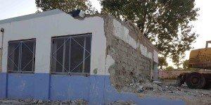 L'école  primaire du « Chahid SAHNOUNE EL- HAMDI » au Sud-Ouest de  la ville de Ain Oulmène en chantier,12-10-2018